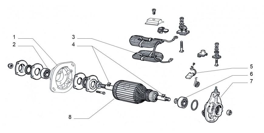 Lichtmaschine Einzelteile
