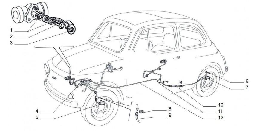Bremszylinder / Leitungen