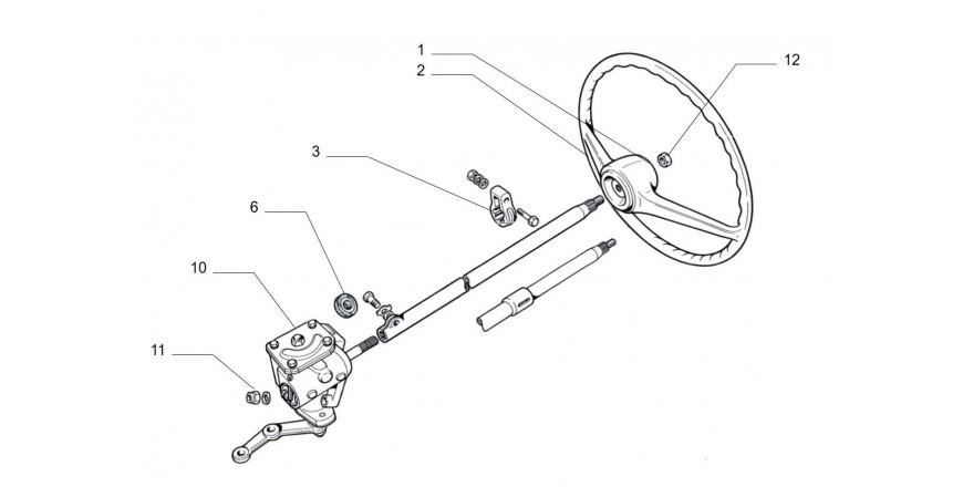 Lenkgetriebe / Lenkrad