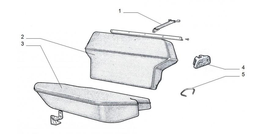 Sitzbank hinten Einzelteile
