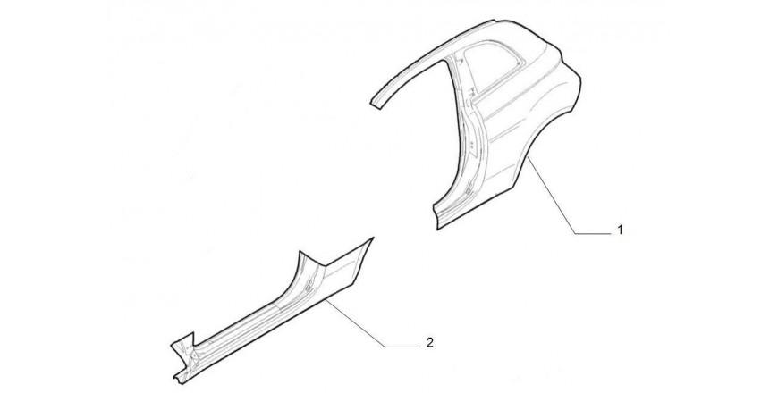 Kotflügel hinten / Türschweller