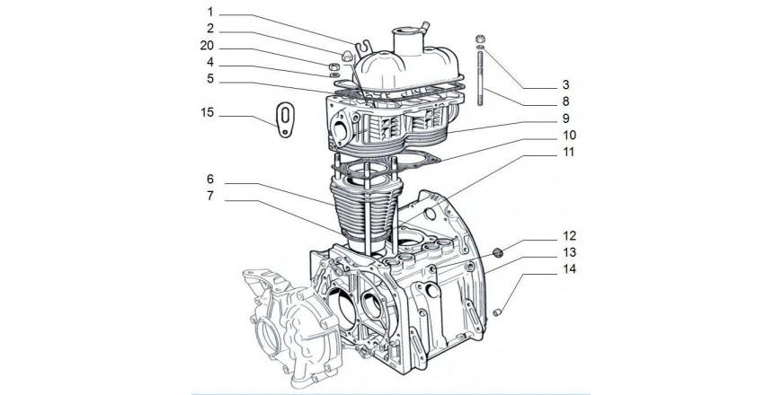 Zylinderkopf / Zylinder / Motorblock